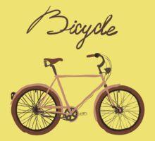 illustration of  vintage bicycle Baby Tee