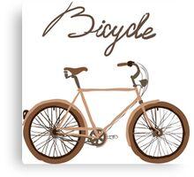illustration of  vintage bicycle Canvas Print