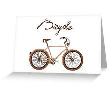 illustration of  vintage bicycle Greeting Card