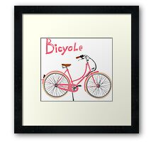 Vintage bicycle Framed Print