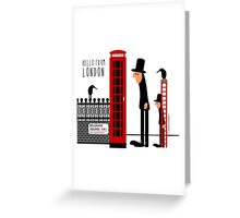 Red Booth Greeting Card