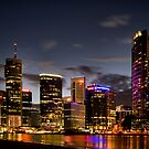 Brisbane By Night by Andrew Cumberland