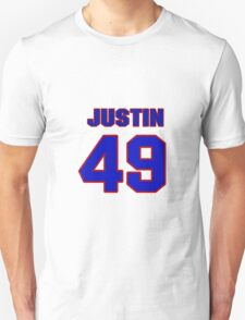 National Hockey player Justin Johnson jersey 49 T-Shirt