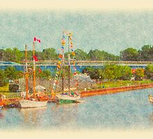 West Bank Tall Ships - Bay City - 2010 by Francis LaLonde