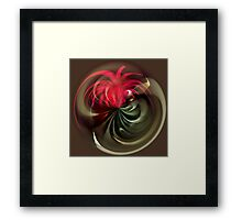 Fireworks Abstract Ball Framed Print