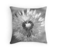 Dandelion Black and White Throw Pillow