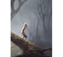 Lost With Fireflies Photographic Print