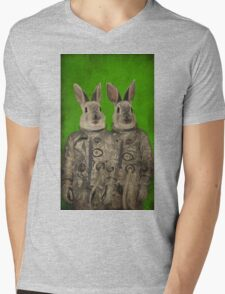 We are ready green Mens V-Neck T-Shirt
