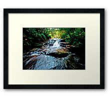 Upper Bridal Veil Falls Leura Blue Mountains Framed Print
