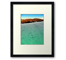 Winter hiking near the border | landscape photography Framed Print