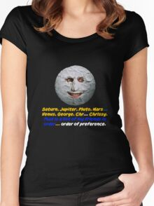 The Moon, The Mighty Boosh, Quote Women's Fitted Scoop T-Shirt