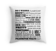Arctic Monkeys Songs Compilation Throw Pillow