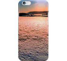 Snow, fields and a winter sunset | landscape photography iPhone Case/Skin