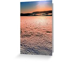 Snow, fields and a winter sunset | landscape photography Greeting Card
