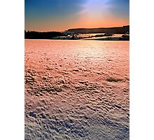 Snow, fields and a winter sunset | landscape photography Photographic Print