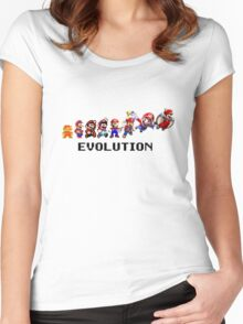 The Evolution of Mario Women's Fitted Scoop T-Shirt