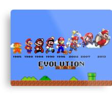 The Evolution of Mario Metal Print