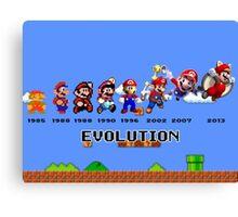 The Evolution of Mario Canvas Print