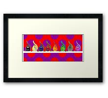 Curly Sam repetition Framed Print
