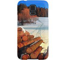 Timber in winter wonderland | landscape photography Samsung Galaxy Case/Skin