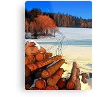 Timber in winter wonderland | landscape photography Metal Print