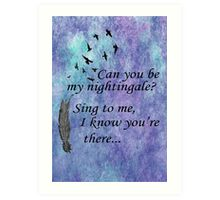 My Nightingale Art Print