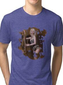 Crème  Tri-blend T-Shirt