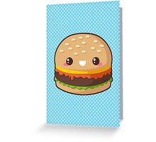 Kawaii Cheeseburger Greeting Card