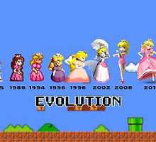 The Evolution of Princess Peach by BowserBasher