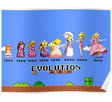 The Evolution of Princess Peach Poster