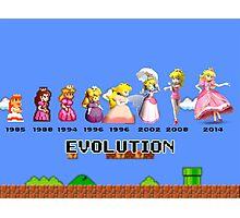 The Evolution of Princess Peach Photographic Print