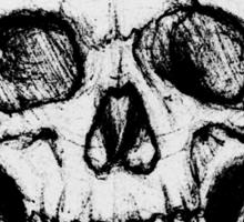 A Simple Skull Smirk Sticker