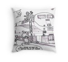 Via Rail Throw Pillow