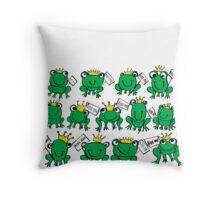 frogssss Throw Pillow