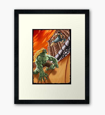 EPIC BATTLE! Framed Print