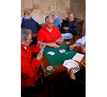 The Card Players, Sorrento, Italy Photographic Print
