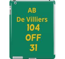 AB De Villiers - 104 off 31 - Fastest ever ODI century (18/01/2015) iPad Case/Skin