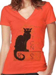 Tournee Du Chat Noir - After Steinlein Women's Fitted V-Neck T-Shirt