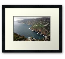 Slieve League cliffs Framed Print