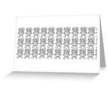 Love Robot Pattern (Monochrome) Greeting Card