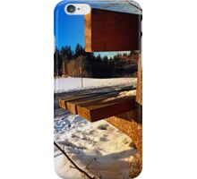 Winter afternoon point of view | landscape photography iPhone Case/Skin