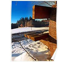 Winter afternoon point of view | landscape photography Poster