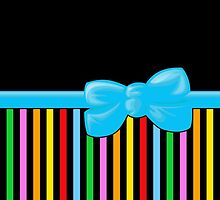 Ribbon, Bow, Stripes - Blue Yellow Green Red by sitnica