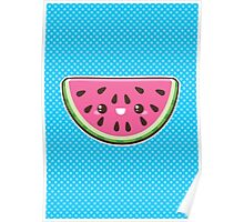 Kawaii Watermelon Slice Poster