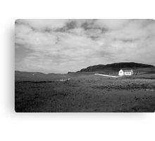 Scenic Donegal church in black and white Canvas Print