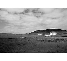 Scenic Donegal church in black and white Photographic Print