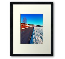 Country road on a winter afternoon | landscape photography Framed Print