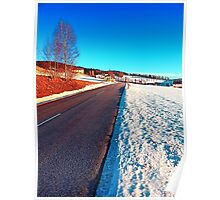 Country road on a winter afternoon | landscape photography Poster