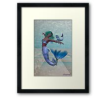 Playtime .. a joyful mermaid Framed Print