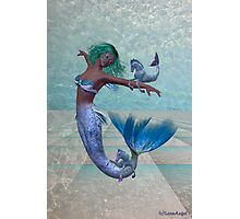 Playtime .. a joyful mermaid Photographic Print